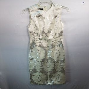 TALBOTS GOLD SILK AND METALLIC DRESS SIZE 4